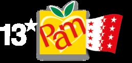 Logo 13* Pam Valais blanc